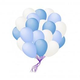 Гелиевые шары , Голубой микс