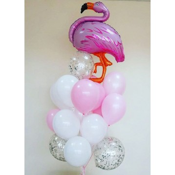 """Сет из шаров """"Розовый фламинго"""""""