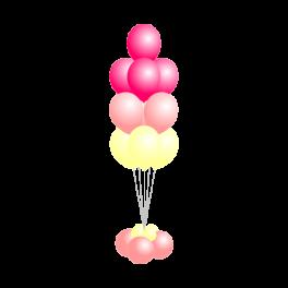 Букет шаров из 10 шаров на основе