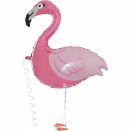Ходячий Фламинго, розовый, 99 см
