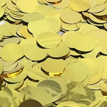 Конфетти круглые золото (50 г.)