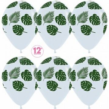 Листья тропические, Белые 25 шт.