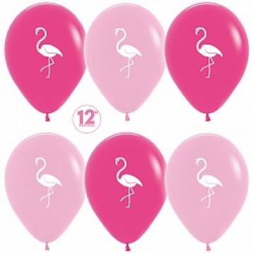Фламинго, Розовый микс 25 шт.