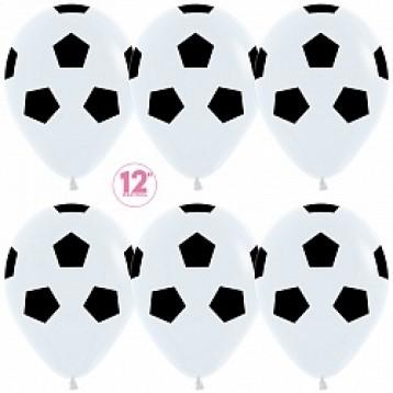 Шар Футбольный мяч, белый с черным