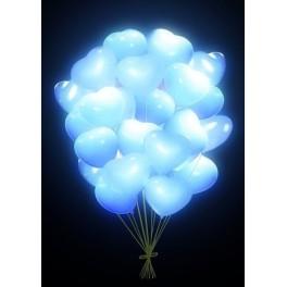 """Шар Светящиеся сердца, Белые, 25 шт, (16""""/41 см)"""