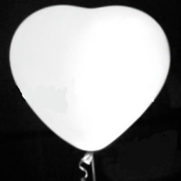 Шар Светящиеся сердце, Белый