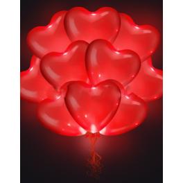 """Шар Светящиеся сердца, Красные, 25 шт., 16""""/41 см"""