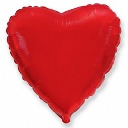 Шар Сердце Ультра, Красное 80 см