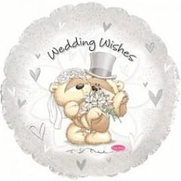 """Шар Круг, """"Wedding Wishes"""" (Свадебные поздравления)"""