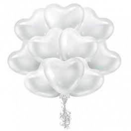 Облако Сердец белые, 25 шт.