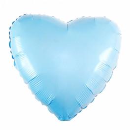 "Шар Сердце, Голубое,  (18""/46 см)"