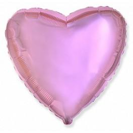 """Шар Сердце, Светло-розовое (18""""/46см)"""