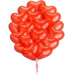 Облако шаров Сердца Красные, 25 шт.