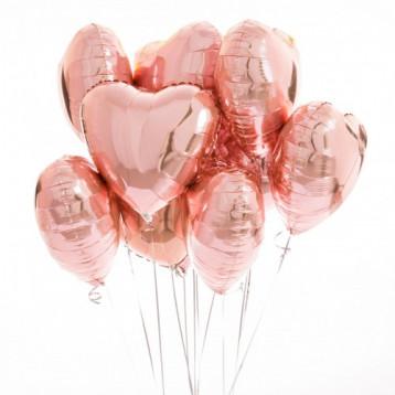 Букет сердец розовое золото
