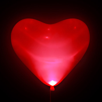 Шар Светящиеся сердце, Красный