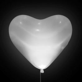"""Шар Светящийся сердце, Белый, 16""""/41 см"""