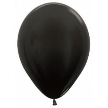 Шар Черный, металлик