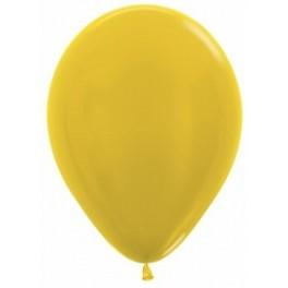 Шар Желтый, металлик