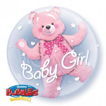 Шар Bubbles Baby girl, Мишка в шаре