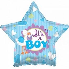 Шар Звезда (Аист принес малыша), Голубой