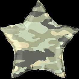 Шар Звезда, Камуфляж, Зеленый,46 см