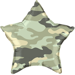 Шар Звезда, Камуфляж, Зеленый