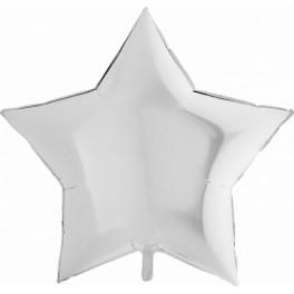 Шар Звезда Ультра, Белый, 91 см