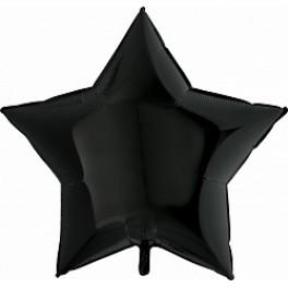 Шар Звезда Ультра, Черный, 91 см