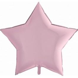 Шар Звезда Ультра, Нежно-розовый матовый, 91 см