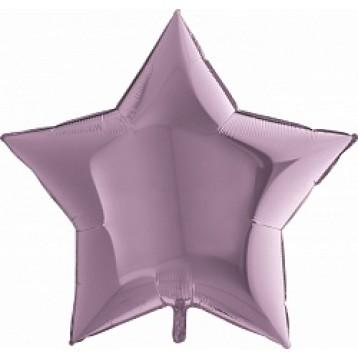 Шар Звезда Ультра, Сиреневый, 91 см