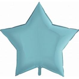Шар Звезда Ультра, Голубой матовый, 91 см
