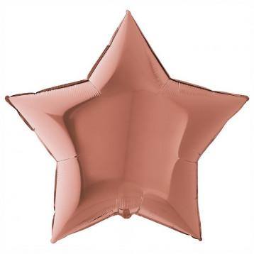 Шар Звезда Ультра, Нежно-розовый, 91 см