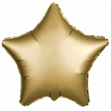Шар Звезда, Золото Сатин